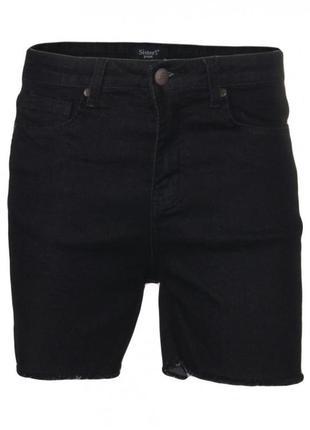 Шорты женские черные джинсовые с высокой посадкой sisters point