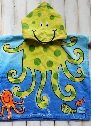 Primark классное пляжное полотенце-пончо для мальчика