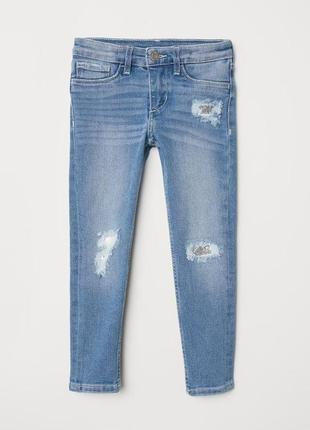 Рваные джинсы скинни на 2-3 года h&m