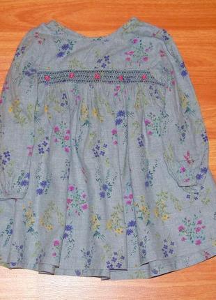 Стильное платье с цветами next,некст,12-18 мес.,1-1,5 года,80,86