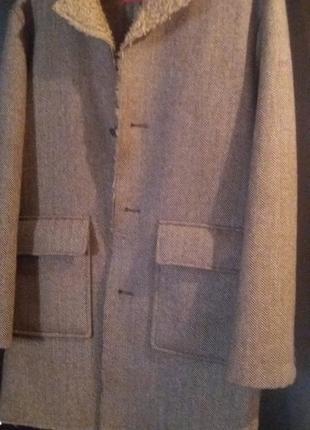 Пальто мужское в ёлочку полупальто стиль лондона  reject