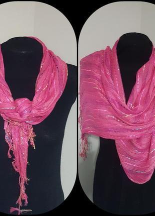 Яркий шарфик с люрексом