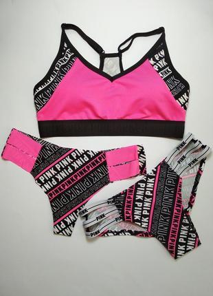 Комплект для фитнеса victoria's secret pink оригинал