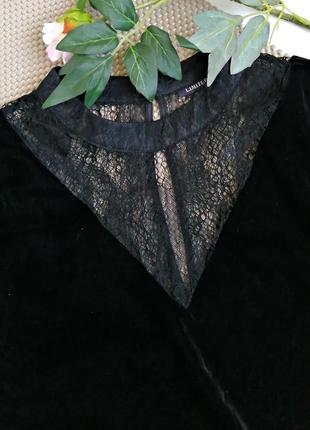 Шикарная бархатная (велюровая) блуза с кружевными рукавами6 фото