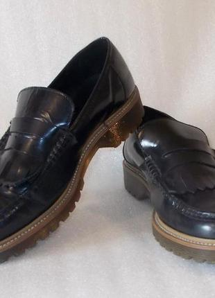 Крепкие мужские туфли *office* натуральная кожа