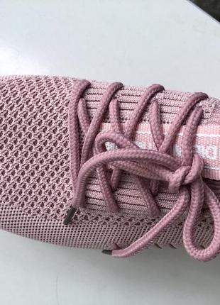 Кроссовки нежные розовые, пудровые, 37р. сиреневые, легкие, сеточка,4 фото