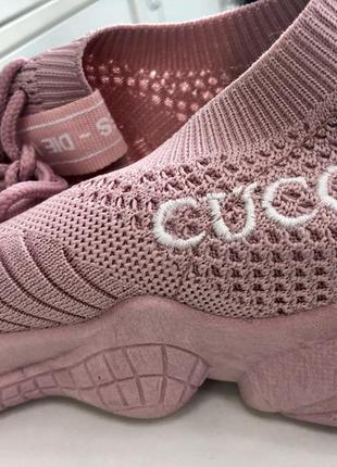 Кроссовки нежные розовые, пудровые, 37р. сиреневые, легкие, сеточка,5 фото