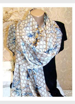 Элитный брендовый шелковый шарф gucci