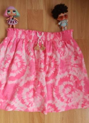 Фирменная юбка tu малышке 7 лет состояние нового