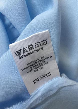 Трендовая блуза голубая, качественая, стан новой. ніжно голуба блуза.2 фото