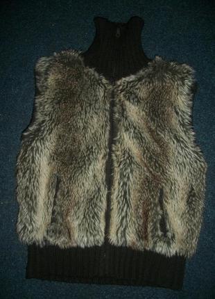 Теплая жилетка меховушка 46-48 размер george джорж