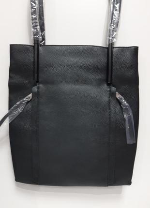 Сумка женская 2 отдела черная оригинал  эко кожа сумочка