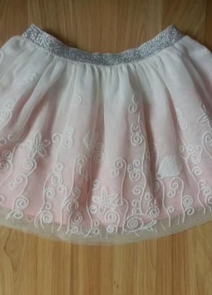 Фирменная нарядная юбка  george  малышке 3-4 года сотсояние отличное