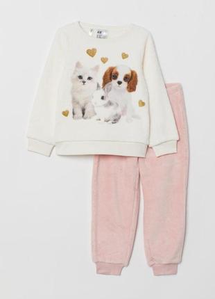 Мягусенькая плюшевая пижама, костюм