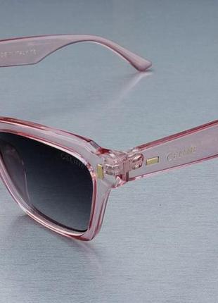 Celine очки женские солнцезащитные в розовой прозрачной оправе