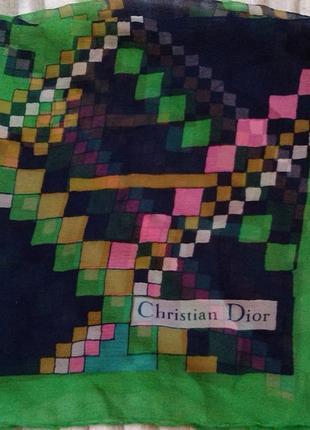 Шелковый платок, косынка christian dior. оригинал. винтаж