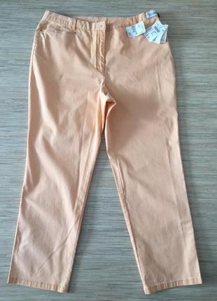 Новые (с этикеткой) джинсы красивого персикового цвета от delmod, размер нем 48, укр 54-56
