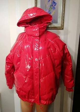 Дутая,стеганая красная куртка h&m