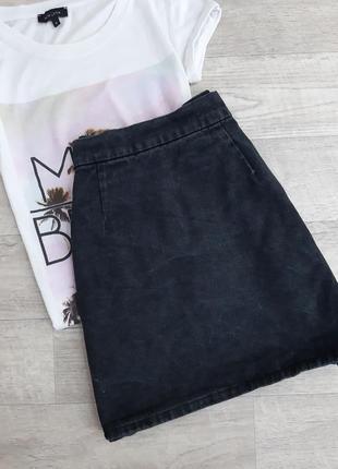 Черная джинсовая юбка denim co