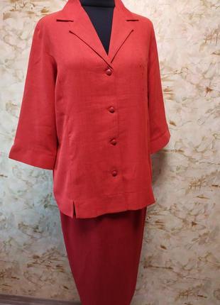 Яркий стильный женский  пиджак и юбка, размер 44-46