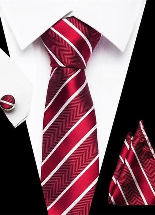 Подарочный набор галстук запонки