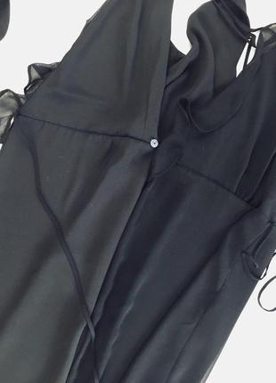 Легкое платье на запах с переплетом на спинке5 фото
