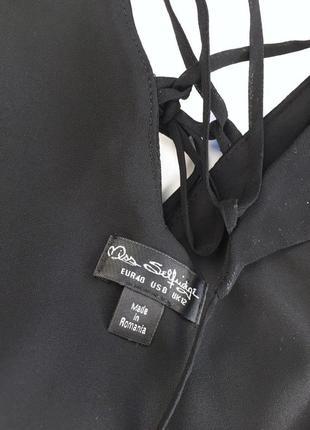 Легкое платье на запах с переплетом на спинке7 фото