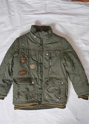Теплая зимняя куртка на мальчика на 134-140 рост ,kiko