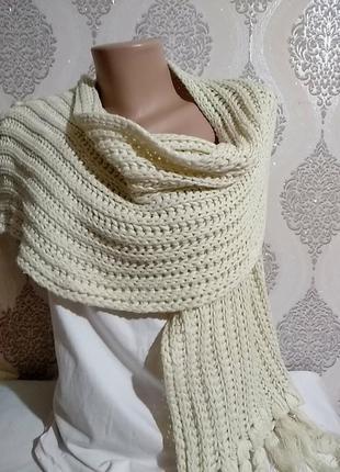 Зимний большой шарф 25х180