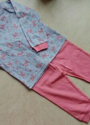 Пижамка для девочки george размер 18-24м