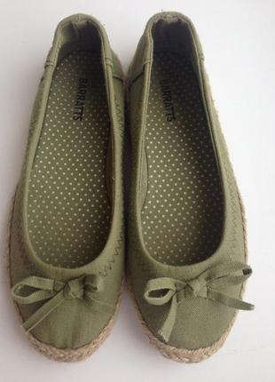 Эспадрильи,балетки barratts,р.34-35,текстиль