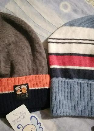 Весенние шапочки kraft 48-50 см хлопок