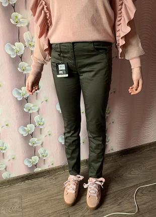 Sale / новые безупречные штаны - брюки коттон-стрейч ovs италия / джинсы хаки mom