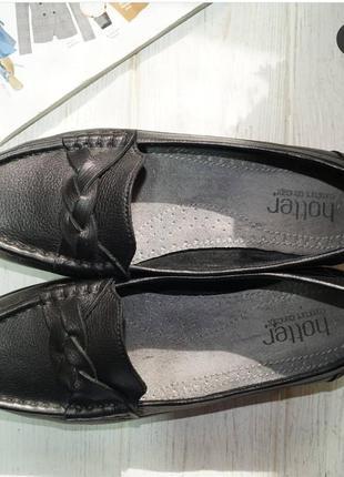 Hotter. кожа. англия. комфортные туфли на низком ходу3 фото