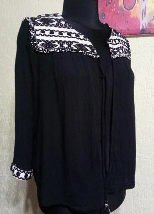 Накидка с эффектными твидовыми вставками, легкий пиджак