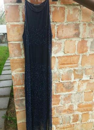 Шикарное платье розшитое бисером