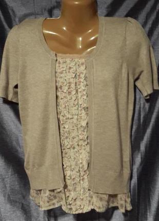 Трикотажная многослойная блуза finery