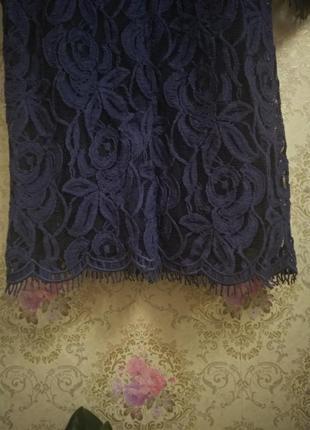 Шикарное платье кружево с поясом6 фото