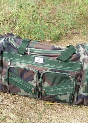 Сумка дорожная камуфляжная, сумка вместительная дорожная хаки, сумка дорожная 60 л