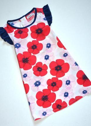 Ladybird. платье хлопковое в крупные цветы. 18-24 мес.