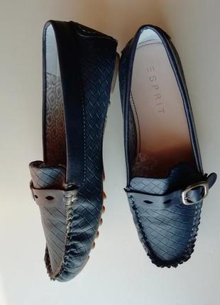Туфли топсайдеры джинсового цвета - 36 р.
