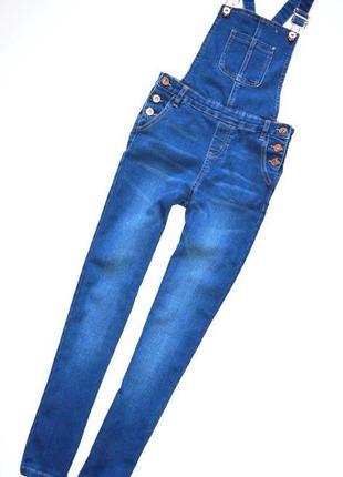 Miss e-vie. джинсовый комбинезон на девочку 10 лет. рост 140 см.