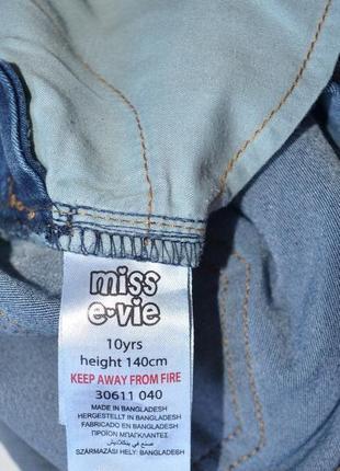 Miss e-vie. джинсовый комбинезон на девочку 10 лет. рост 140 см.5 фото