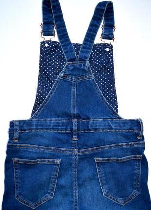 Miss e-vie. джинсовый комбинезон на девочку 10 лет. рост 140 см.4 фото