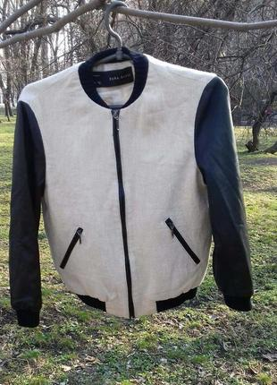 Бомбер, куртка, zara basik весеняя р. s original