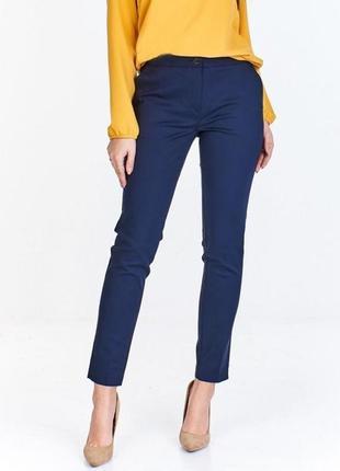 Стильні вкорочені сині штани від h&m, на р. м