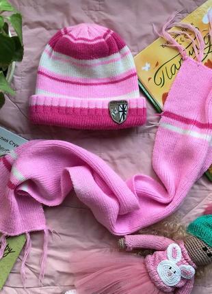Набор шапка шарф на возраст примерно 1-4 года