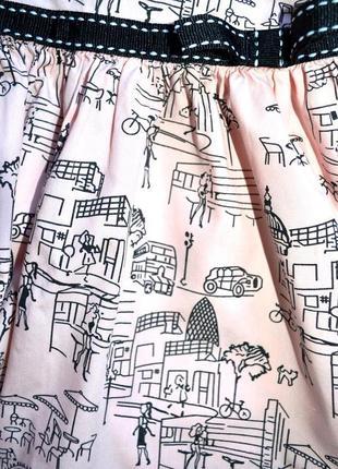 Обалденное платье с городским принтом3 фото