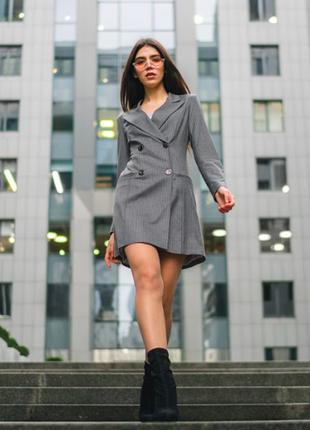 Серое платье - пиджак