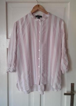 Стильна віскозна сорочка в полоску від atm, на р. xl/2xl